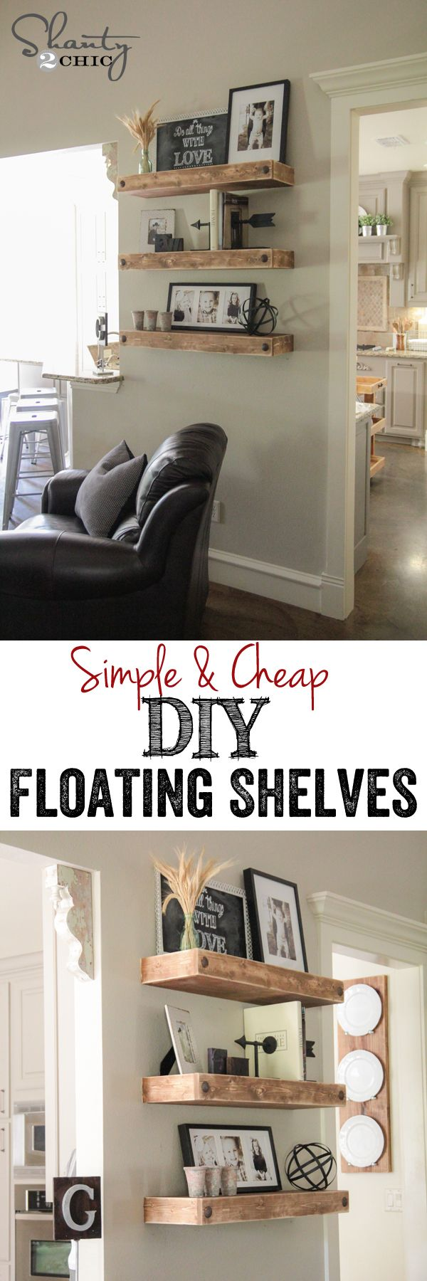 DIY Floating Shelves